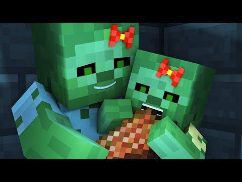 Zombie Vs Villager Life 4 Alien Being Minecraft Animation Youtube Animation Zombie Alien