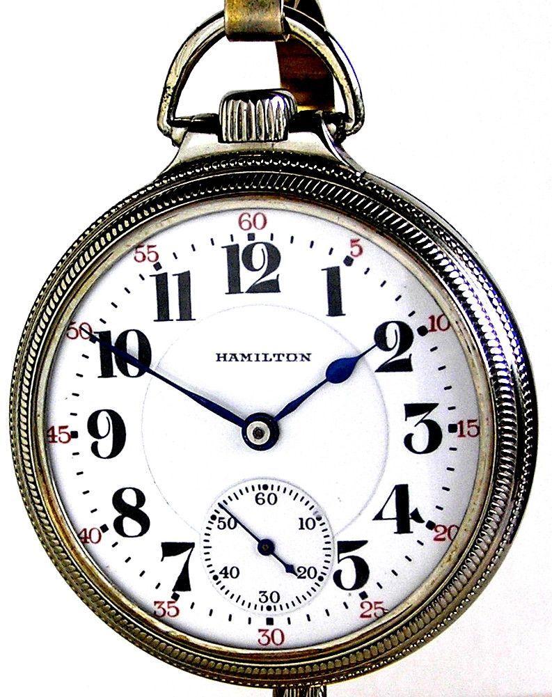 d8bb3c9bf75 Hamilton 992 Antique Railroad Pocket Watch in a 10K Gold Filled Railroad  Case Circa 1926 Relógio