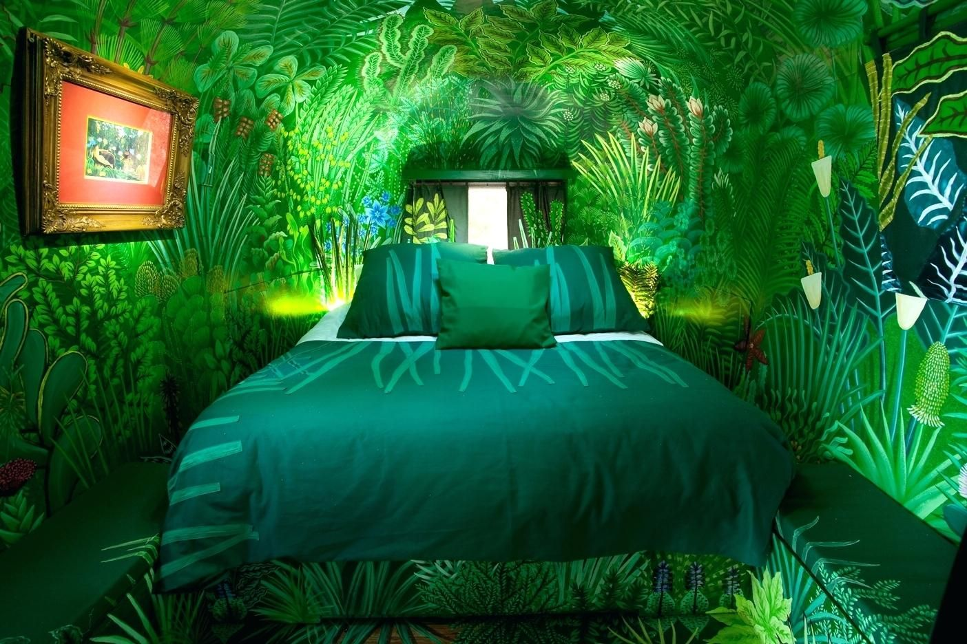 Forest Bedroom Wallpaper For Walls Jungle Themed Bedrooms Kids Old