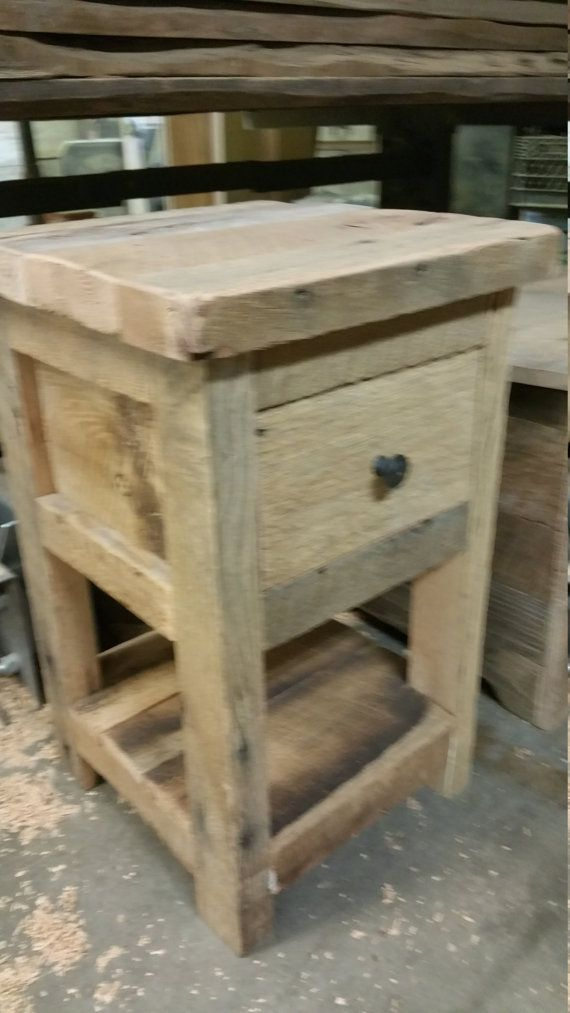 Beau YOUR Custom Made Rustic Barn Wood End Table By Timelessjourney