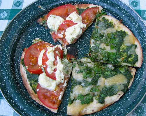 Lavash Pizza Over a Fire Recipe