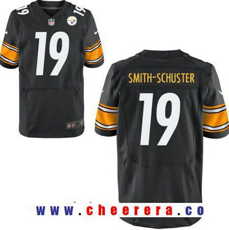 d43d90e3bbc Men s 2017 NFL Draft Pittsburgh Steelers  19 JuJu Smith-Schuster Black Team  Color Stitched