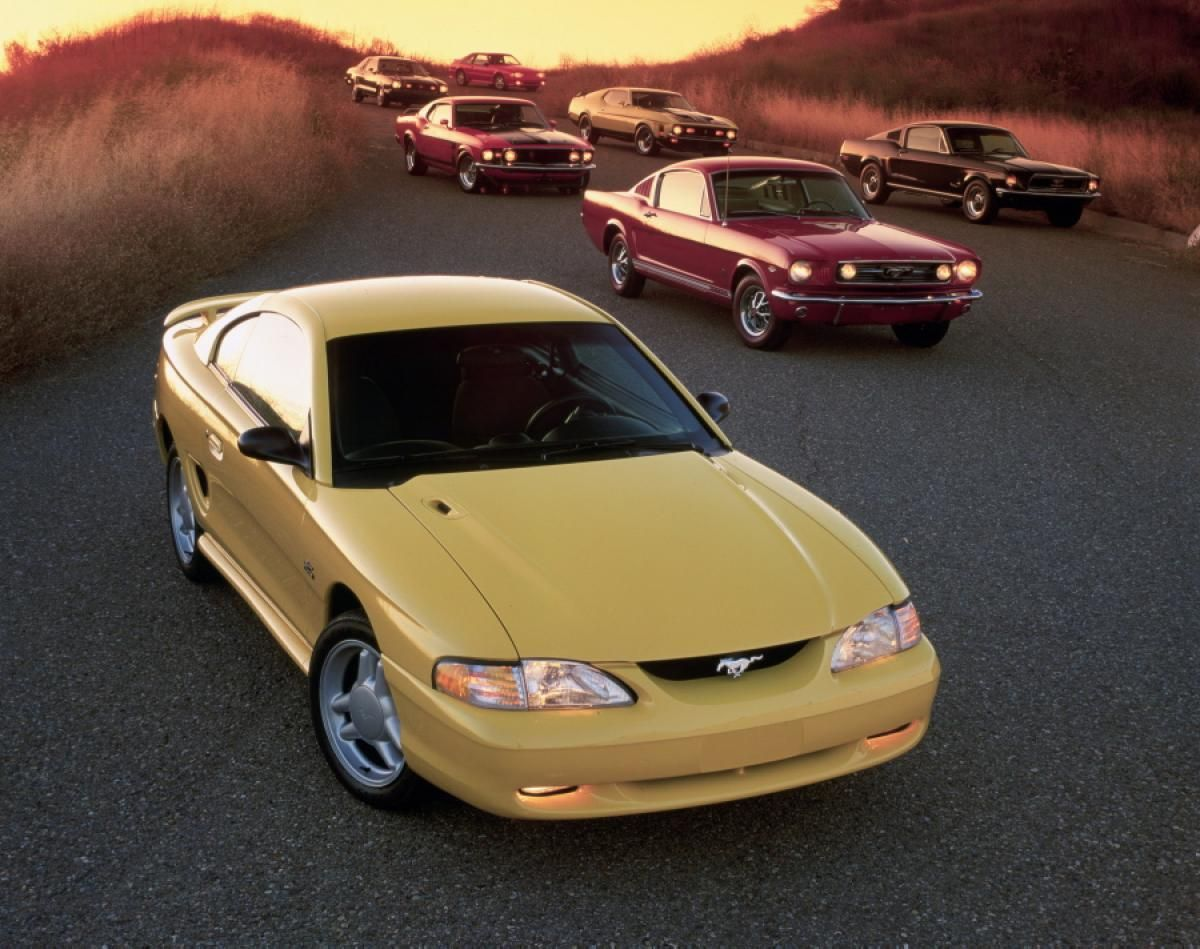 1994 Ford Mustang Gt Coupe Photos Ford Mustang Turns 50 America S Popular Pony Car Through The Years Pony Car Mustang Ford Mustang