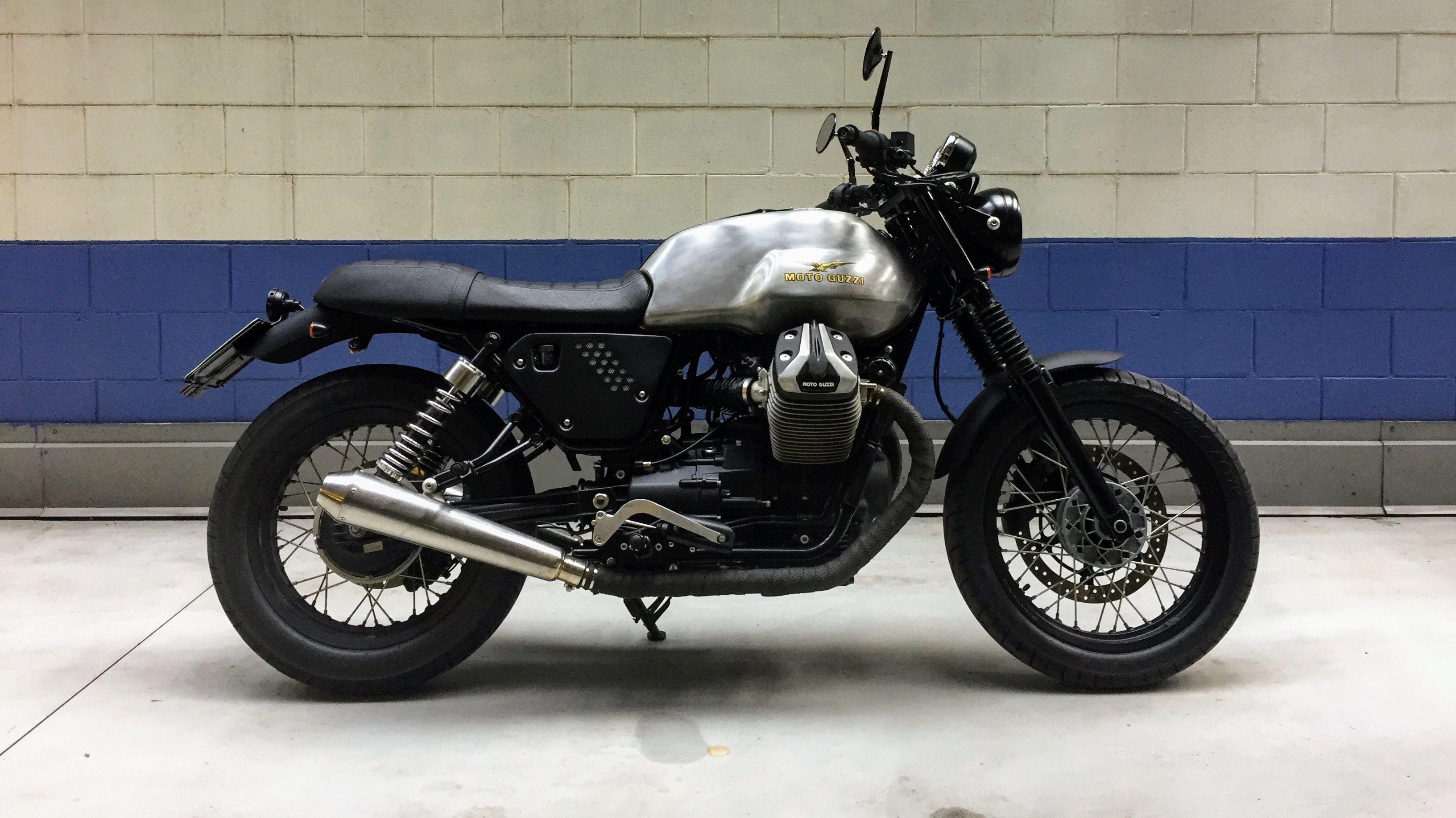 Moto Guzzi V7ii Motoguzzi V7ii Guzzi V7 Caferacer Bratstyle Brat Byke Mybikemypride Custom Holdfast