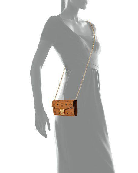 Patricia Visetos Large Chain Wallet   Designer crossbody