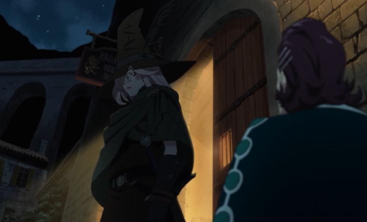 e01 Kaisar met Amira outside the bar Japanese anime