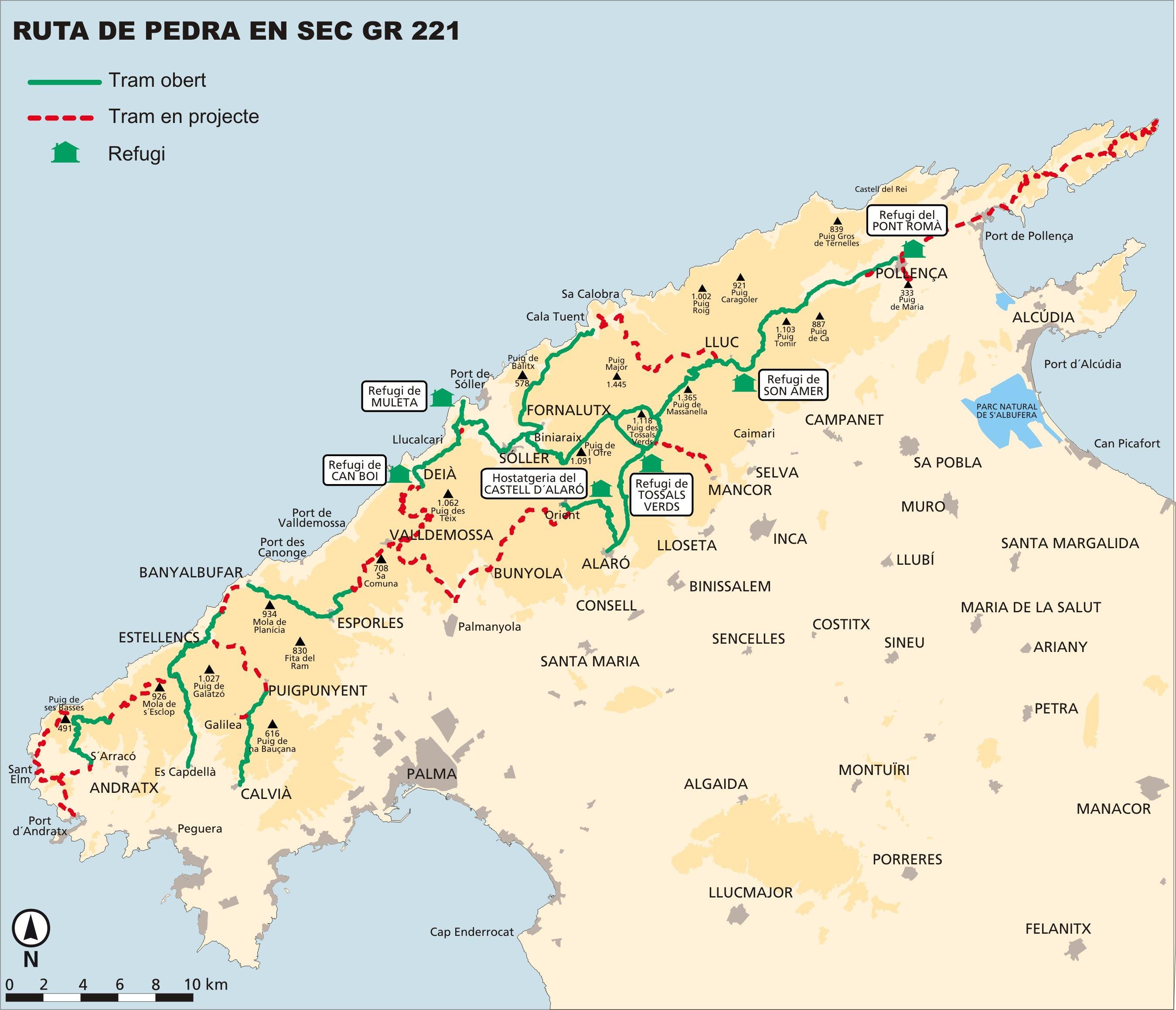 Unwetter Mallorca Karte.Die Etappen Des Gr 221 Der Trockenmauerweg Auf Mallorca