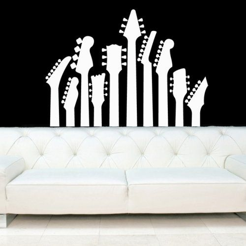 Guitar Necks, Electric Guitars Decal, Vinyl, Sticker, Wall, Home Decor