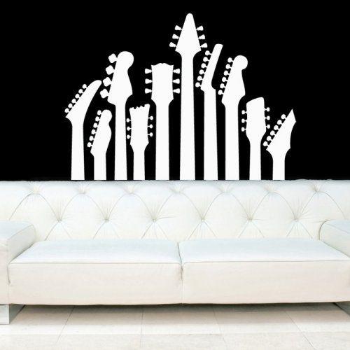 High Quality Guitar Necks, Electric Guitars Decal, Vinyl, Sticker, Wall, Home Decor