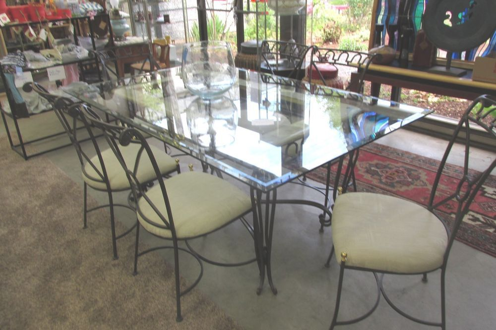 Black Gold Wrought Iron Dining Table Chairs S Used Dining