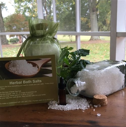 Bath Salts with Essential Patchouli Herb Oil