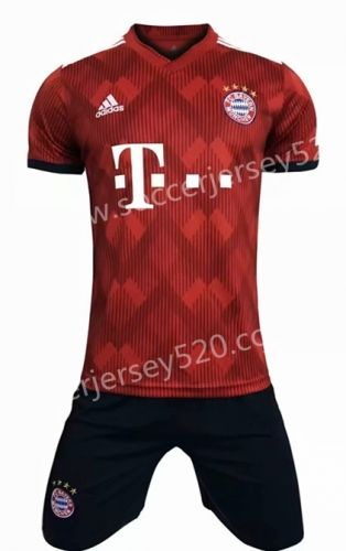 reputable site 32a77 29ea7 2018-19 Bayern München Home Red Soccer Uniform | Quality ...