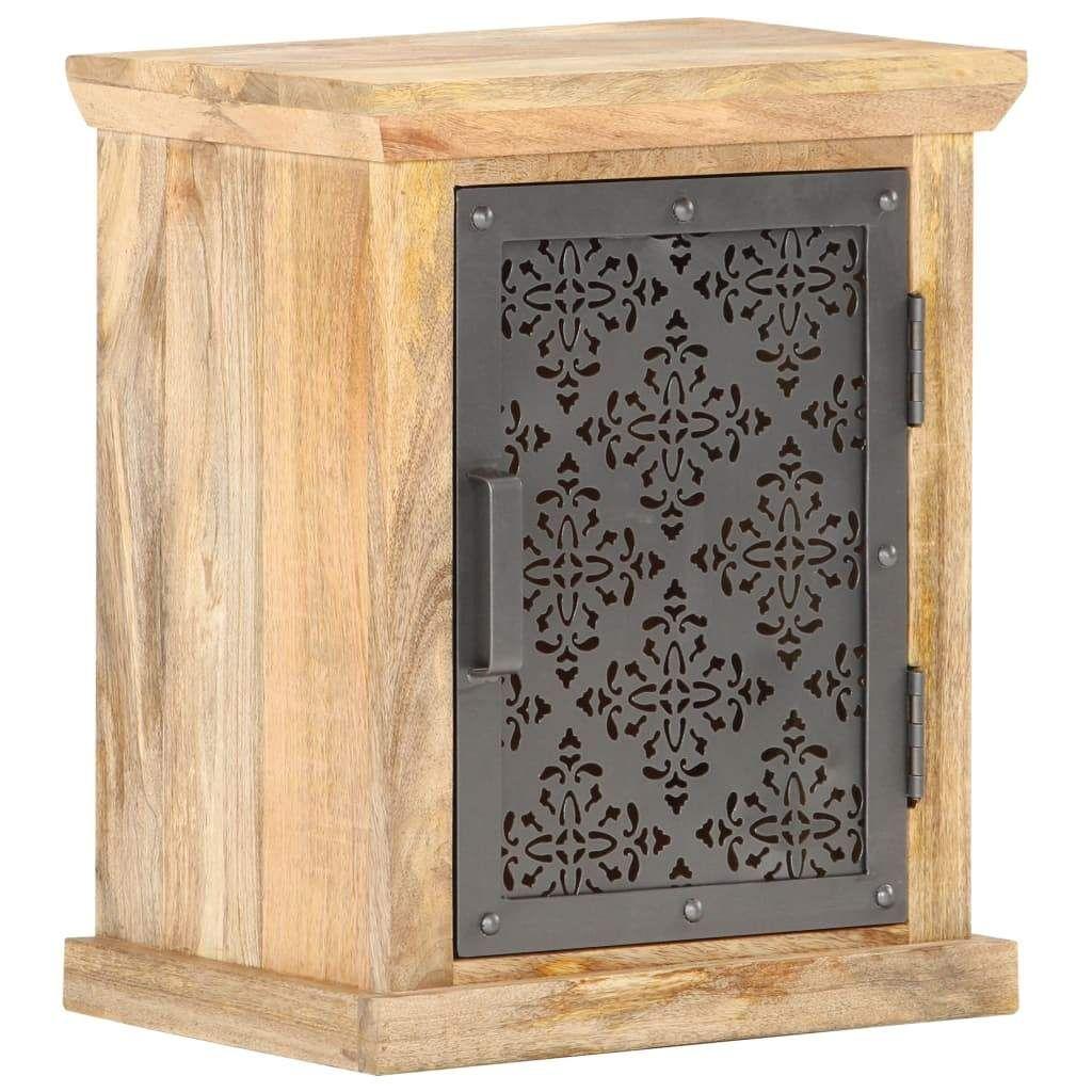 vidaXL Bedside Cabinet with Door 40x30x50 cm Solid Mango Woo…