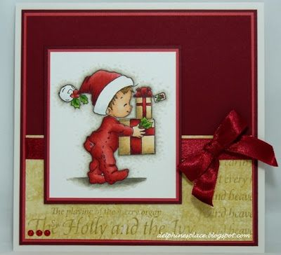 Sugar Nellie Pip & Presents card - layout - colors - bjl