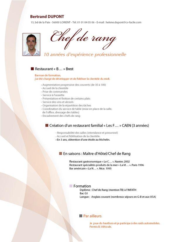 Modele cv restauration andallthingsdelicious for Emploi cuisinier scolaire