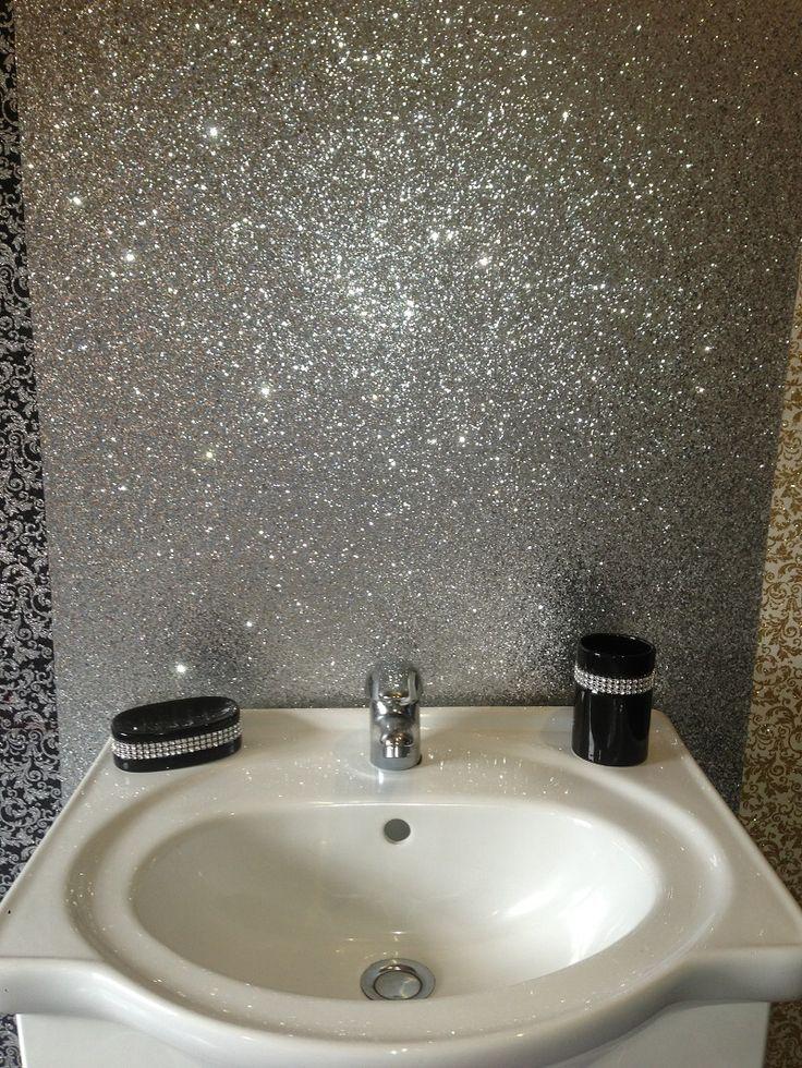 Glitter Splashback For Bathroom Google Search Pinteres