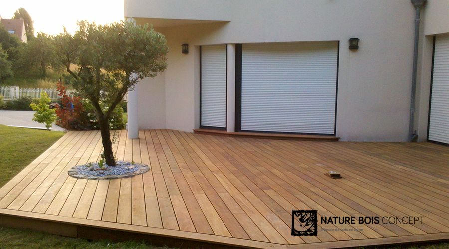 terrasse bois exotique ip client nature bois concept maison balcony deck diy patio en. Black Bedroom Furniture Sets. Home Design Ideas
