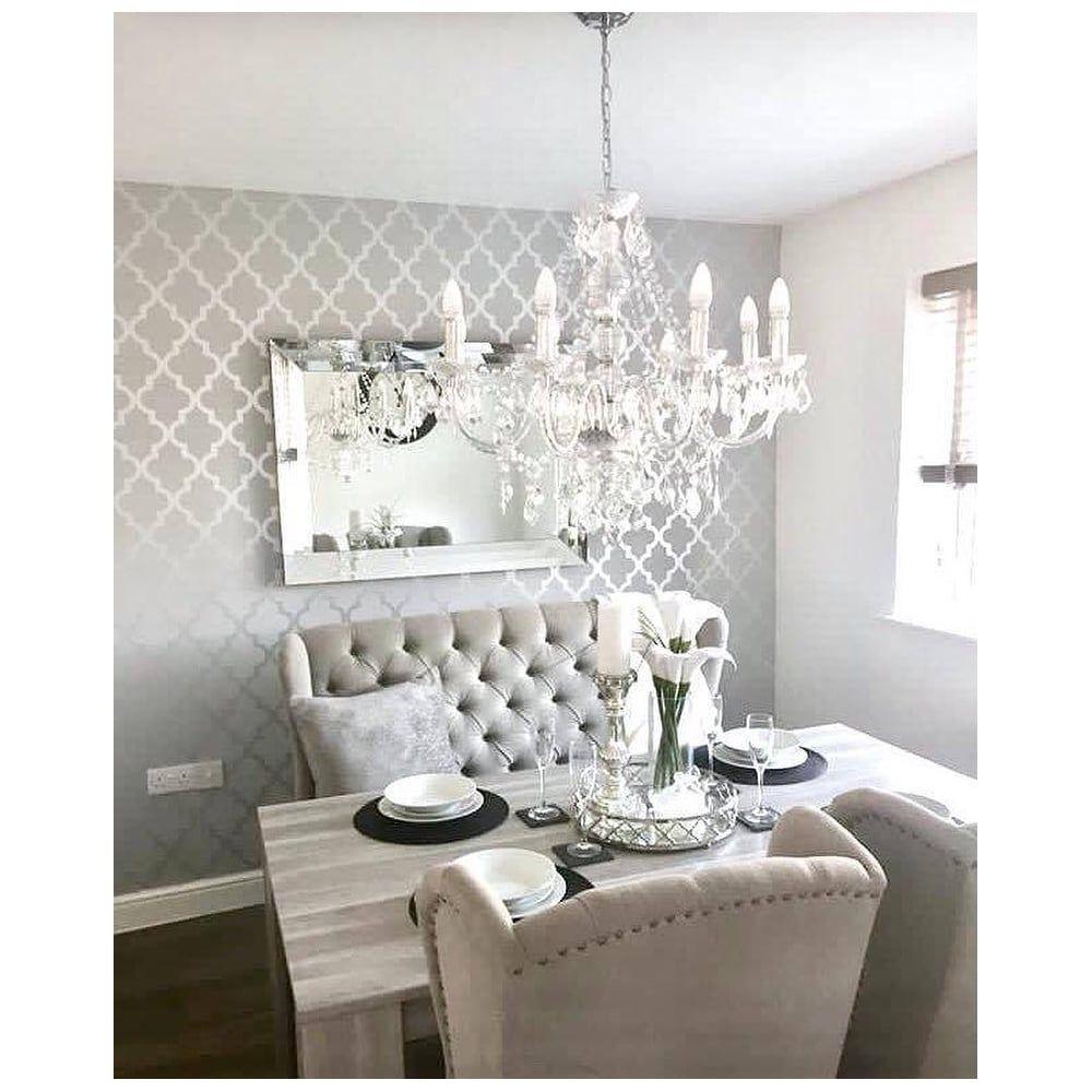 Dining Room Wallpaper Accent Room Grey Dining Room Wallp