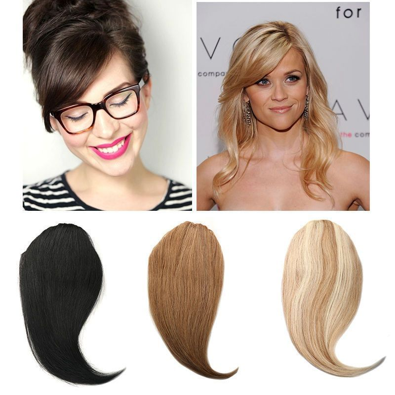 Toys & Hobbies Short Side Bangs Hair Women Clip-in Straight Side Long Oblique Bangs Latest Hair Extension Fring Straight Clip On In Hair Piece