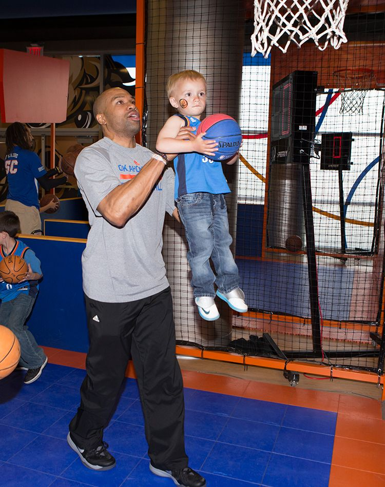 Photo Gallery: Season Ticket Member Party - April 1, 2014 | THE OFFICIAL SITE OF THE OKLAHOMA CITY THUNDER - Derek Fisher
