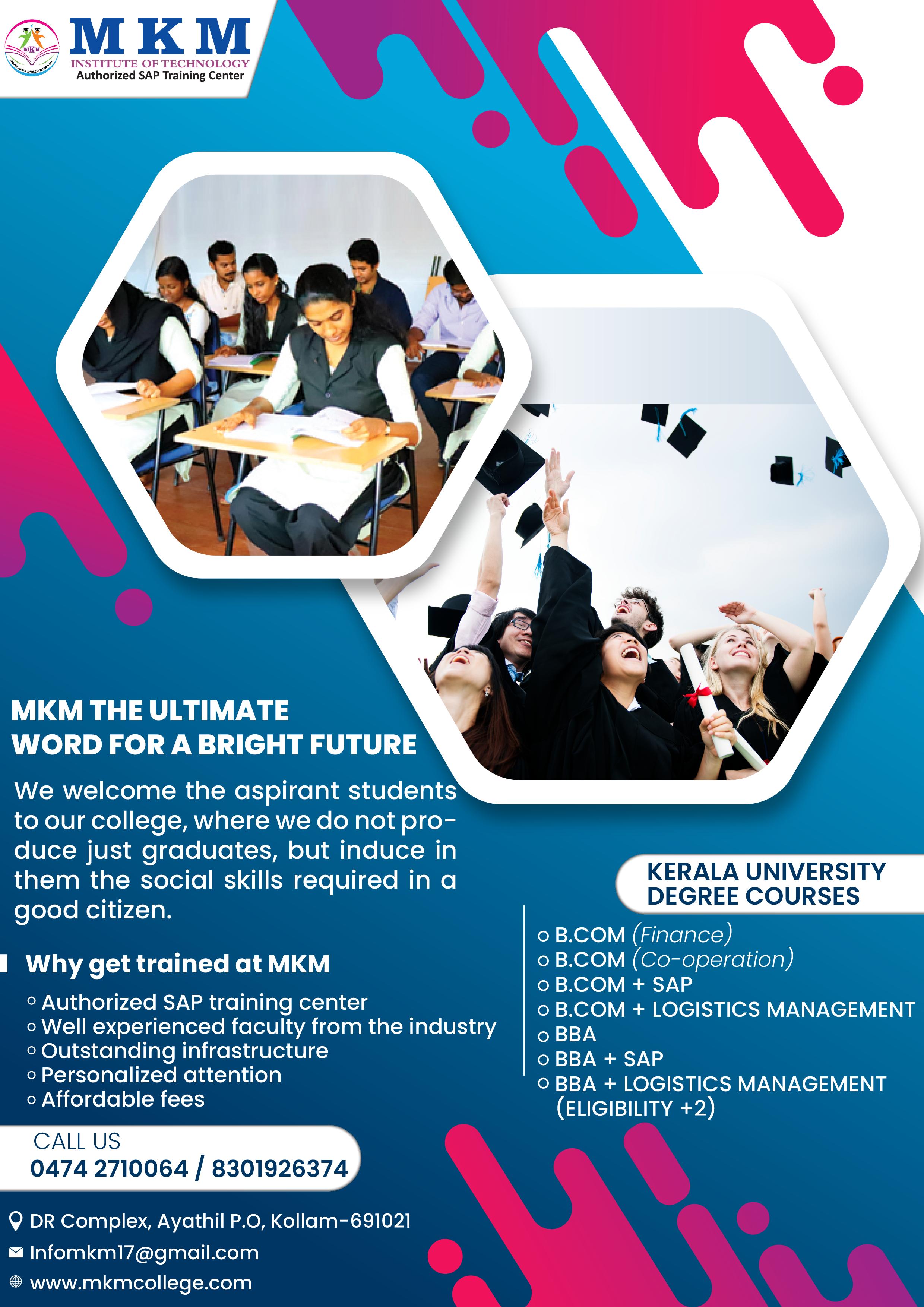 Mkm Institute In 2020 Education Social Media Poster Social Media Design