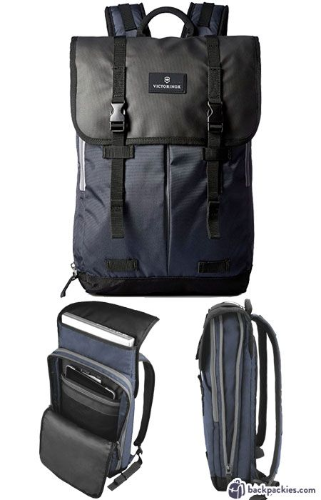 Victorinox Atmont 3.0 Flapover laptop backpack - best Tumi backpack  alternative - backpackies.com e24812b1ee3