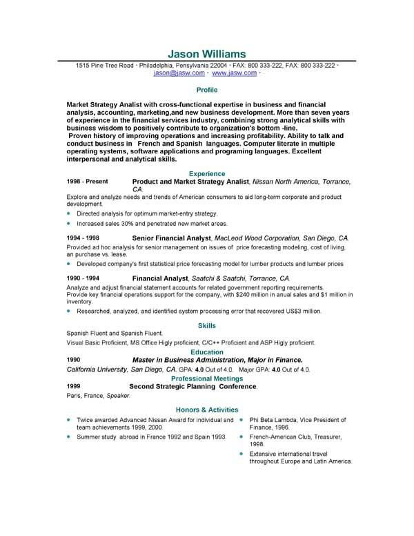 sample resume free resumes easyjob template