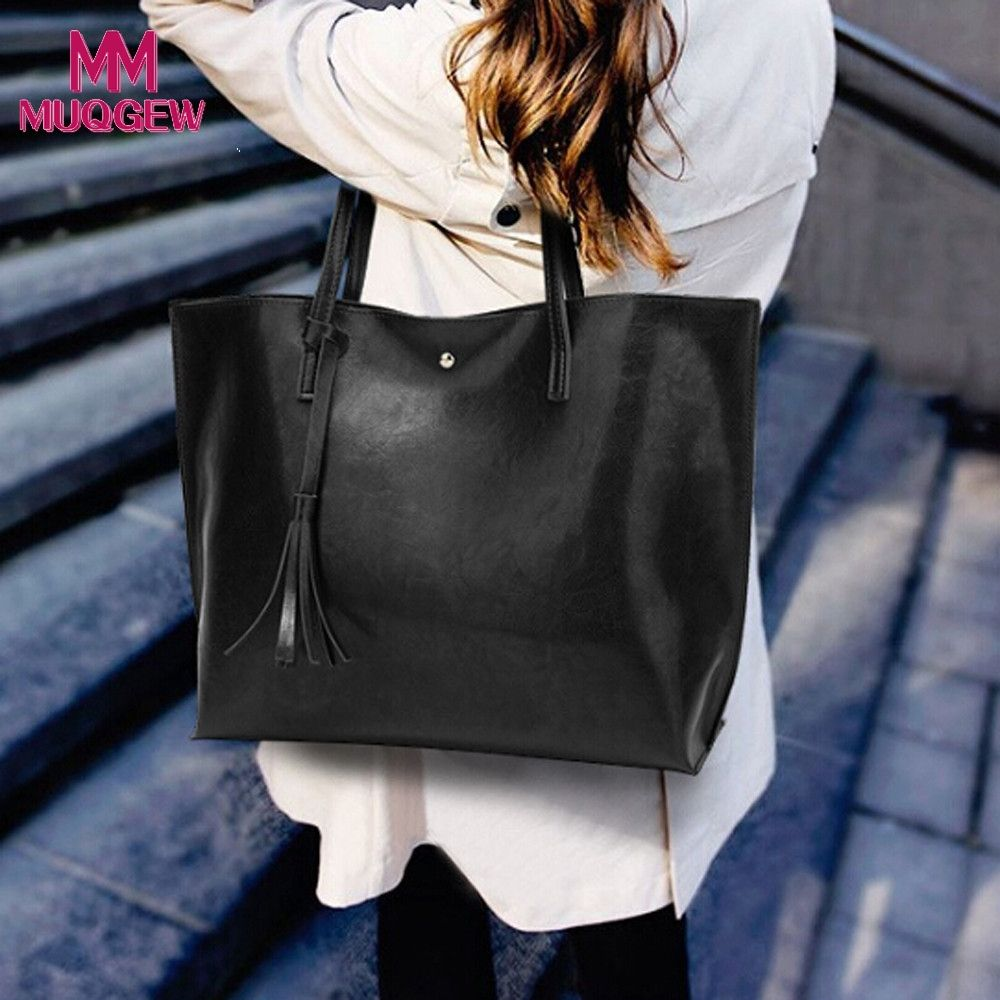 0c84c34a5f4 Bags for Women Female Casual Tassel Bags PU Leather Tassel Handbag Shoulder  Bag Crossbody Packet Bolsas