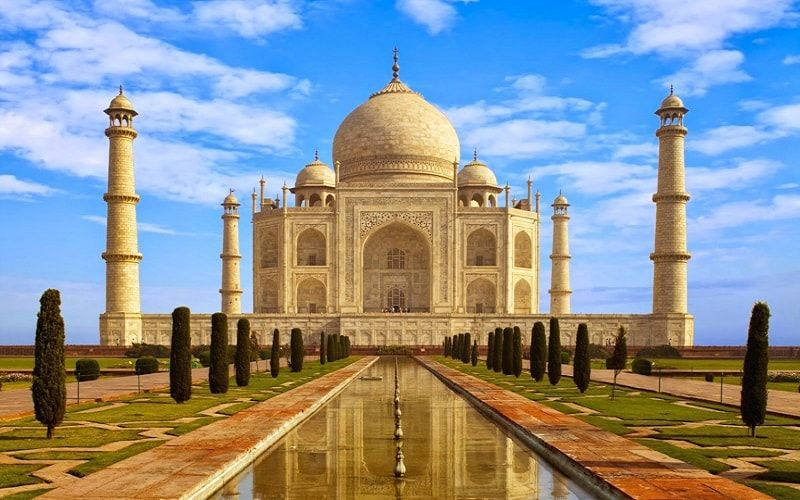 تاج محل بمدينة أغرا الهند Taj Mahal Wonders Of The World Taj Mahal Image