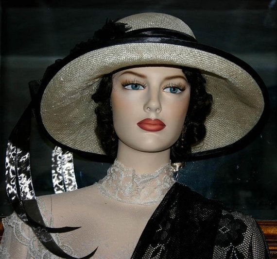Kentucky Derby Hat Gatsby Hat Miss Emily Black by darnasderbyhats, $159.00