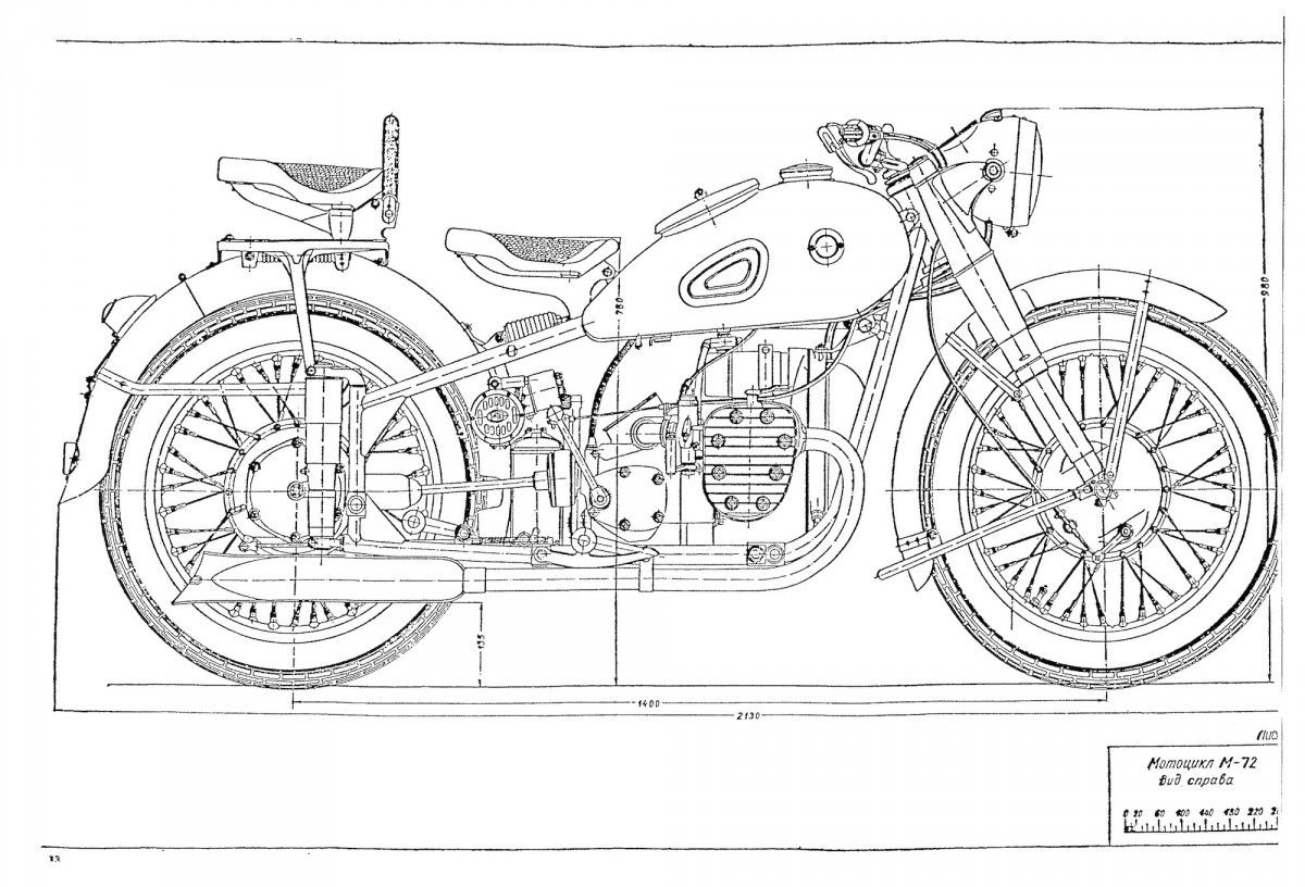 Russian m 72 blueprints motorcycle engine sidecar and engine russian m 72 blueprints malvernweather Image collections
