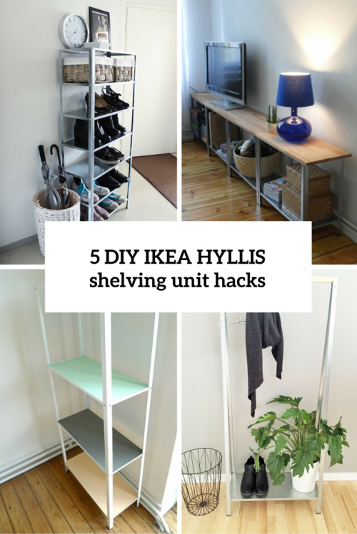 how to hack ikea hyllis shelving unit 5 diy ideas shelterness - Shelving Units Ideas
