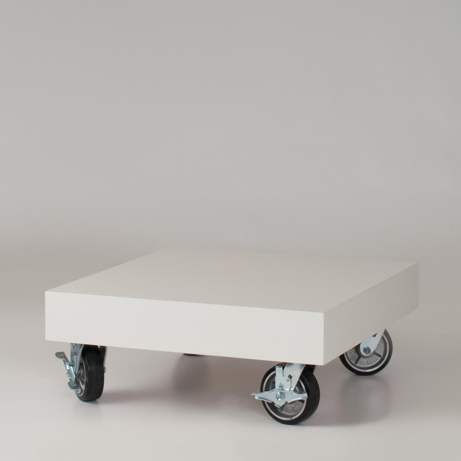 pop wheels Hi concept table rolls low profile on oversized aluminum
