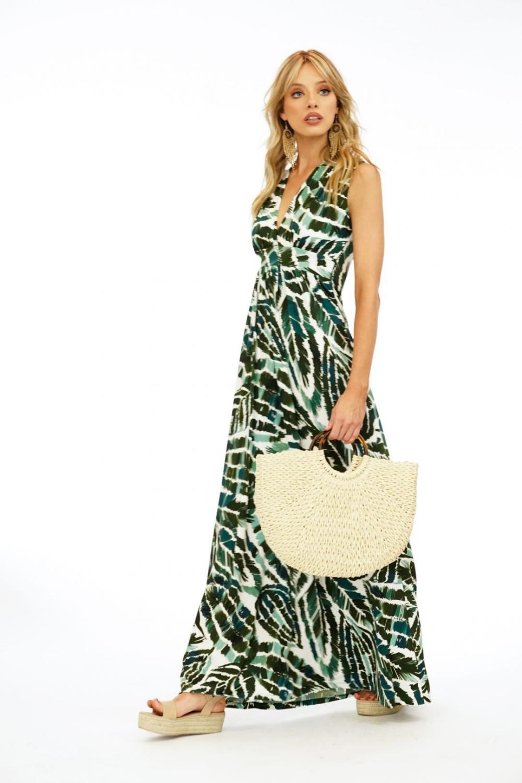 Forest Surplice Maxi Dress Veronica M Maxi Dress Dresses Maxi [ 1500 x 1000 Pixel ]