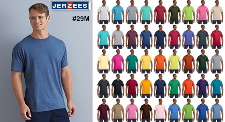Jerzees 29M Mens Heavyweight Cotton Poly T Shirt from NYFifth