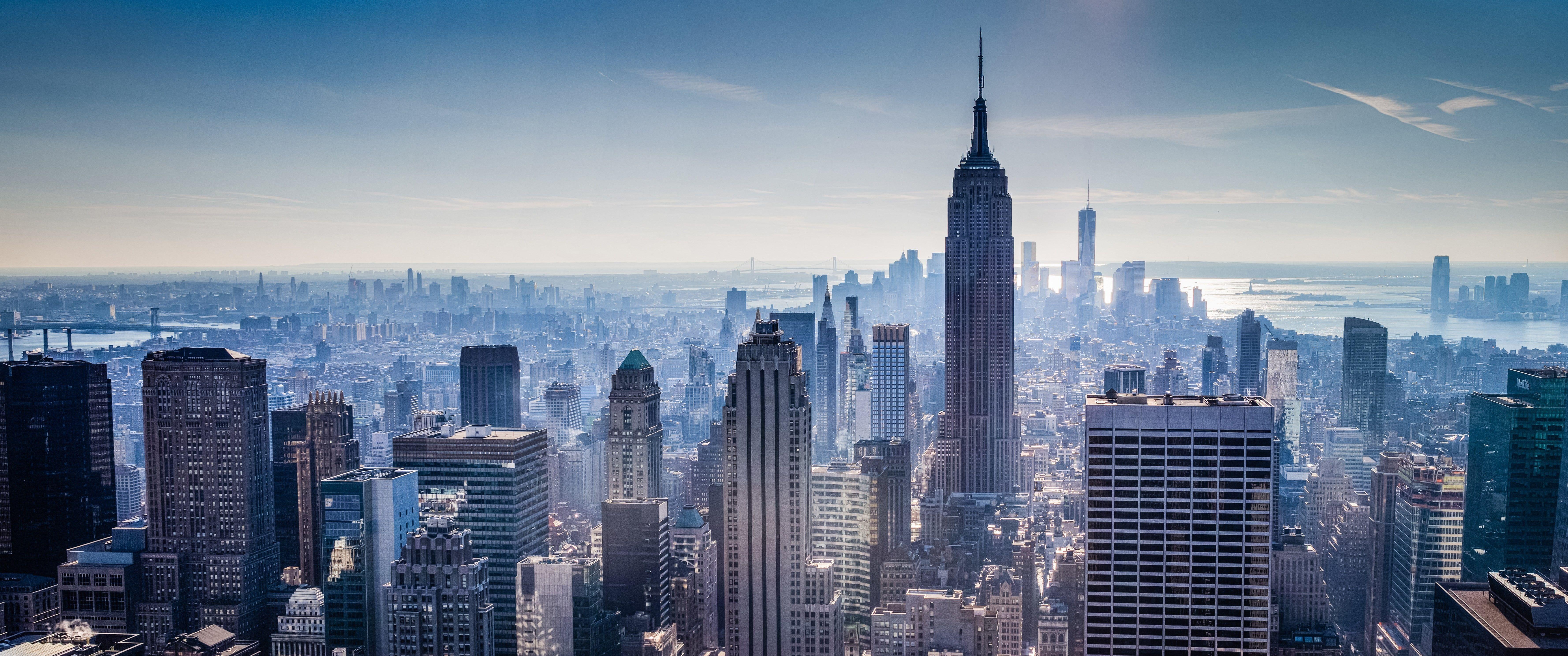 Empire State Building New York New York City Building Cityscape 5k Wallpaper Hdwallpaper Desktop Buildings Photography Skyscraper 3440x1440 Wallpaper