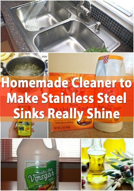 Homemade Cleaner to Make Stainless Steel Sinks Really Shine House Cleaning Tips, Cleaning Recipes,