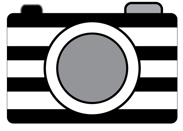 Striped Camera Clipart Clip Art PicturesClipart Black And WhitePolaroid