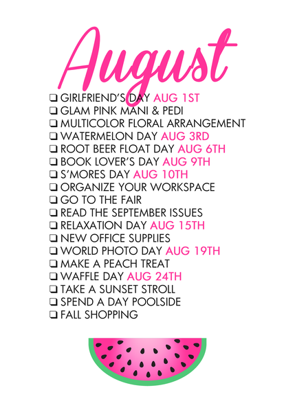glam august free printable from  paperandglam  shop