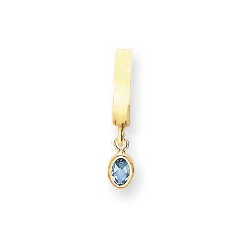 14K 6x4 Oval Bezel Genuine December/Blue Topaz TummyToy Jewelry Adviser Body Jewelry & Piercing. $133.02