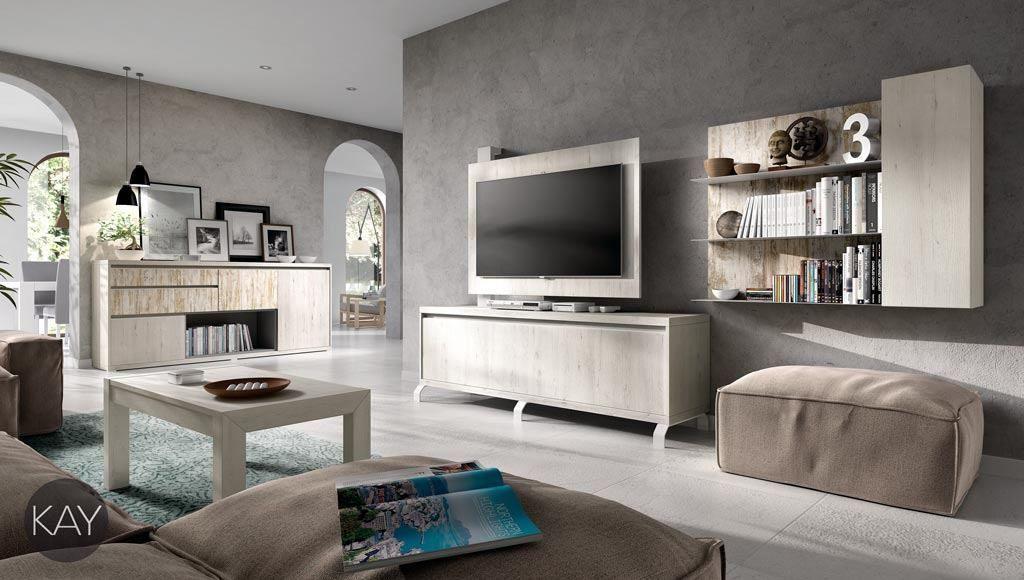 Salón comedor con mueble TV y aparador del catálogo KAY | Mueble ...