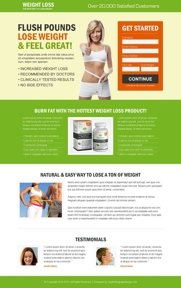 Buy weight loss small lead capture product selling effective ...