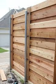 Image Result For Horizontal Fence With Round Metal Post Fence Design Wood Fence Design Horizontal Fence