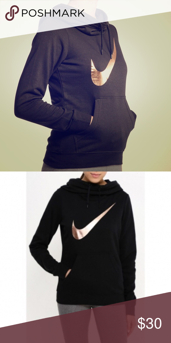 Nike Sweatshirt Rose Gold Swoosh Logo Design Nwt Great Slouchy