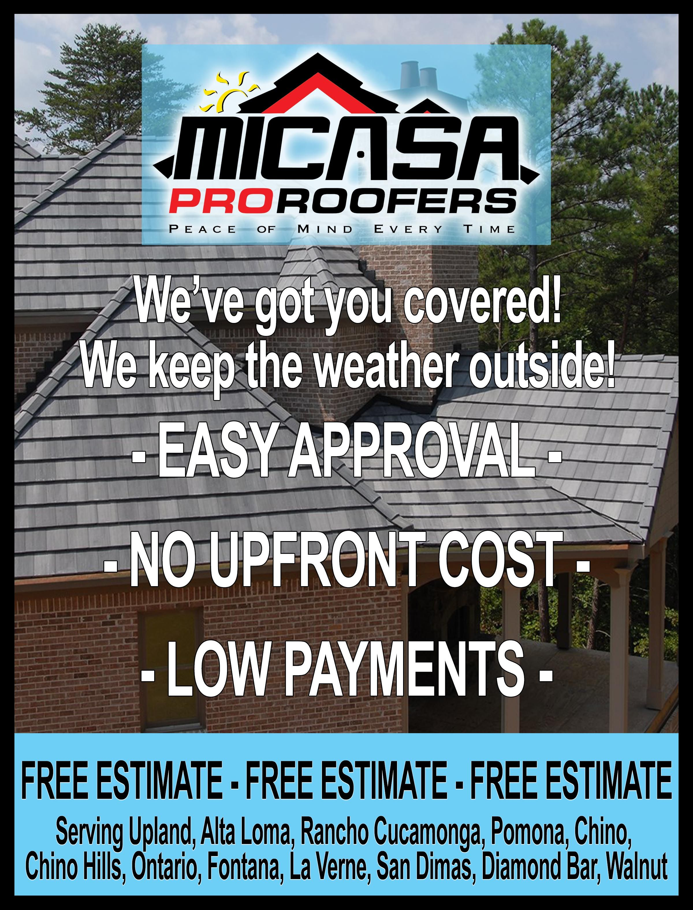 Image by Micasa Roofing on Micasa Pro Roofers Upland Ads
