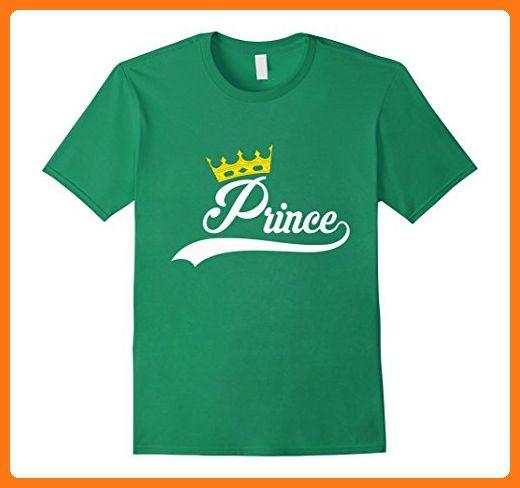 cfc2b293d8 Mens matching father mother son daughter t-shirt prince Medium Kelly Green