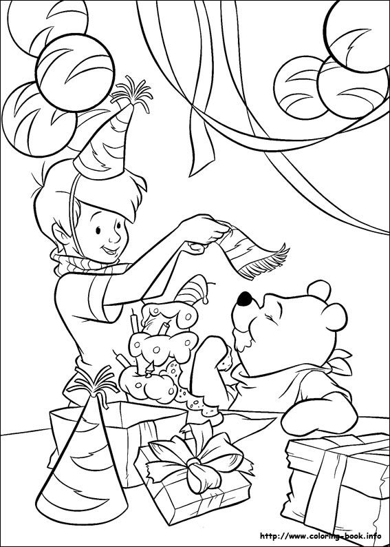 Winnie the Pooh coloring picture for a coloring station at ...