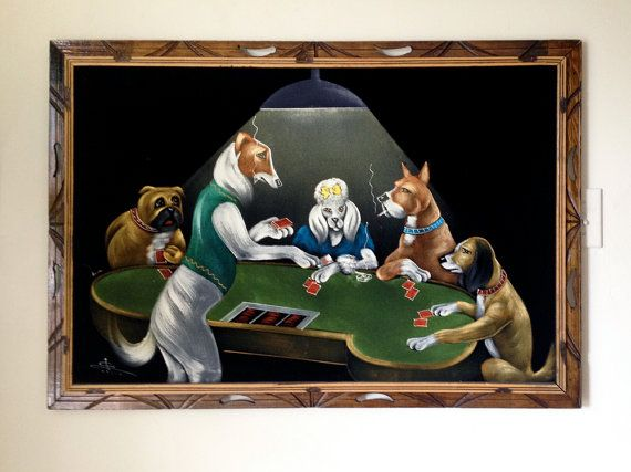 Large Dogs Playing Poker Black Velvet Painting Vintage 1970s Etsy Dogs Playing Poker Velvet Painting Custom Pet Painting