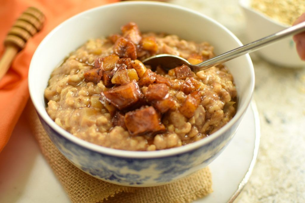 Caramelized apple rolled oats glutenfree natural