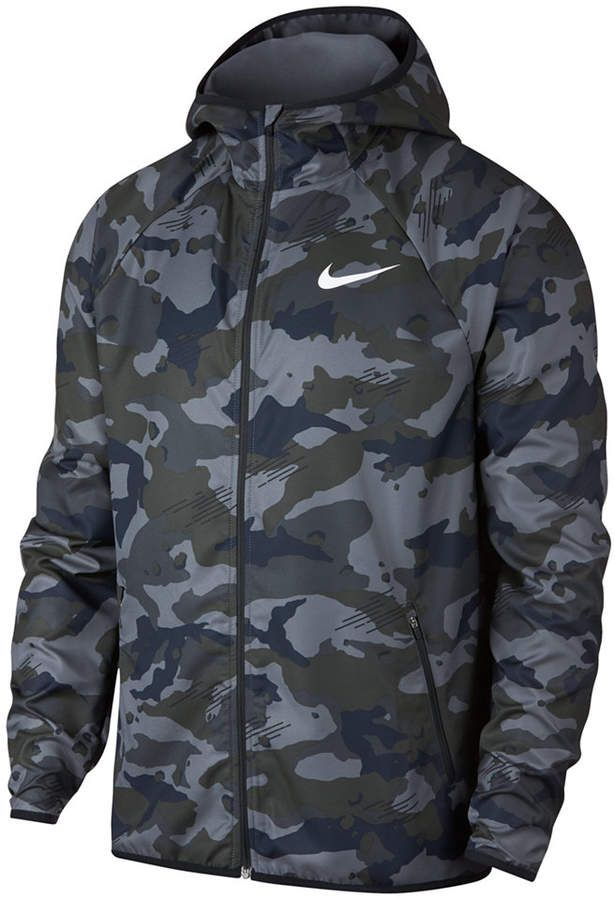 5856bcb7e3db3d Nike Men s Woven Camo-Print Training Jacket - Gray L in 2019 ...